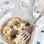 Risotto de setas, un risotto italiano clásico