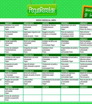 menu semanal abril
