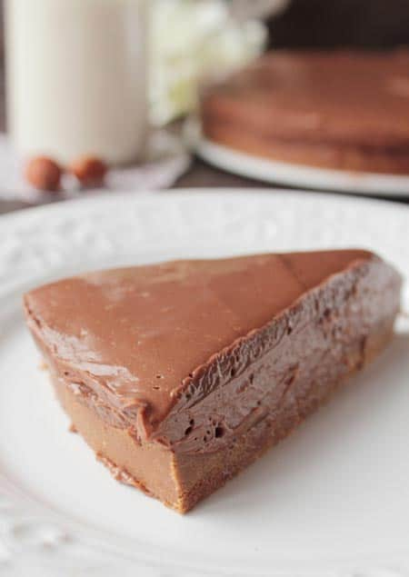 tarta de nutella de chocolate
