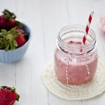 Smoothie de fresas, ¡rico y saludable!