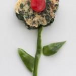 Tortilla en flor de espinacas, ¡qué rica!