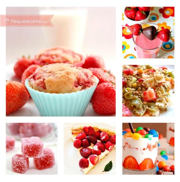 Recetas con fresas postres con fresas y mucho m s - Pequerecetas postres ...