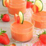 Gazpacho de FRESAS (receta fácil y muy saludable)