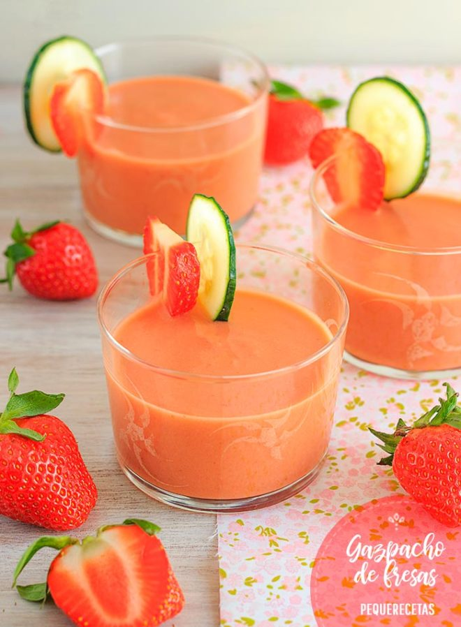 gazpacho de fresas receta