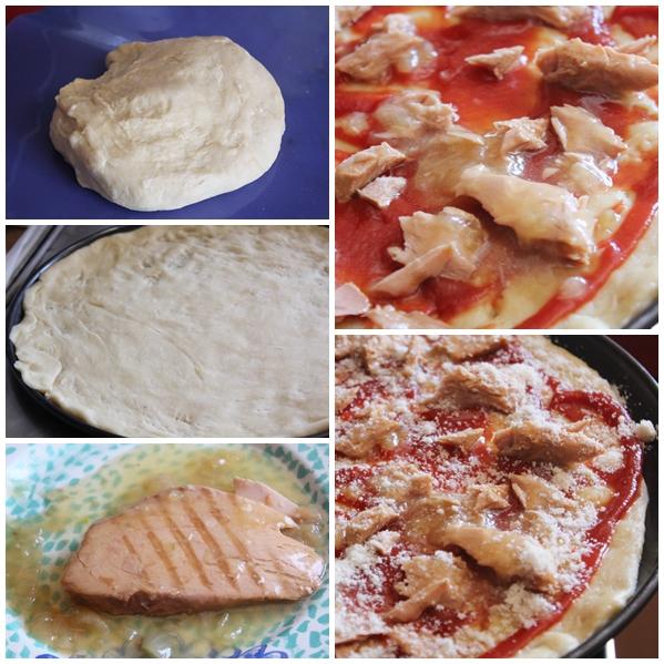 Pizza de atun encebollado Isabel paso a paso