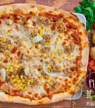 pizza de atun receta