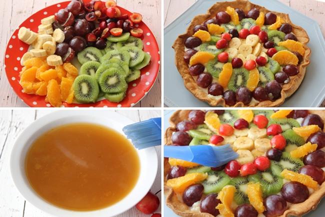 Tarta de frutas paso a paso