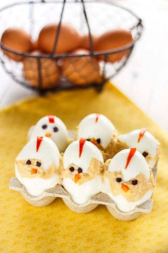 huevos rellenos de pascua