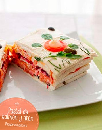 pastel de salmon y atun