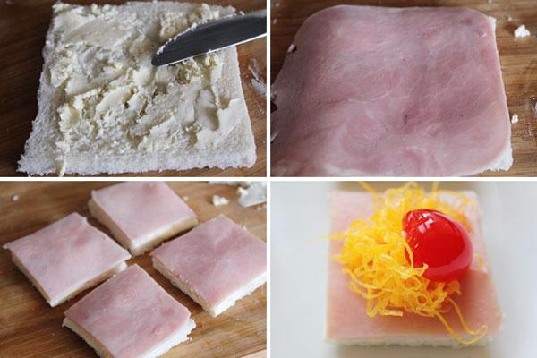 Canap s navide os 3 recetas de canap s paso a paso for Canape de jamon y queso