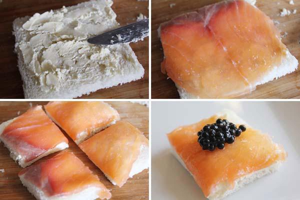Canap s navide os 3 recetas de canap s paso a paso for Canape de salmon ahumado