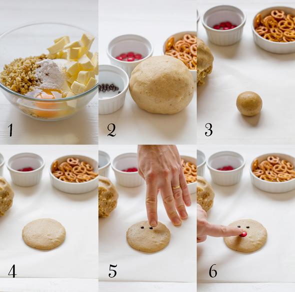 galletas de vainilla y nueces paso a paso