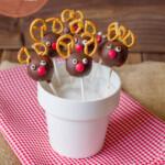 Recetas de Navidad para niños: ¡Cake pops de renos!