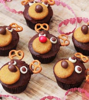 Cupcakes chocolate Navidad