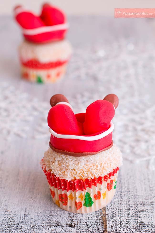cupcakes navideños fondant