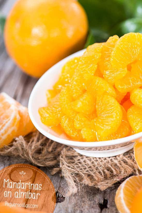 Mandarinas en almibar