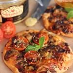 Pizza gourmet de Foie Gras y Jamón de Pato