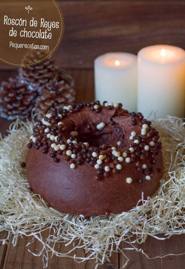 roscon de reyes de chocolate receta