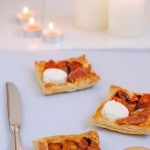 Tartaletas de jamón con queso de cabra