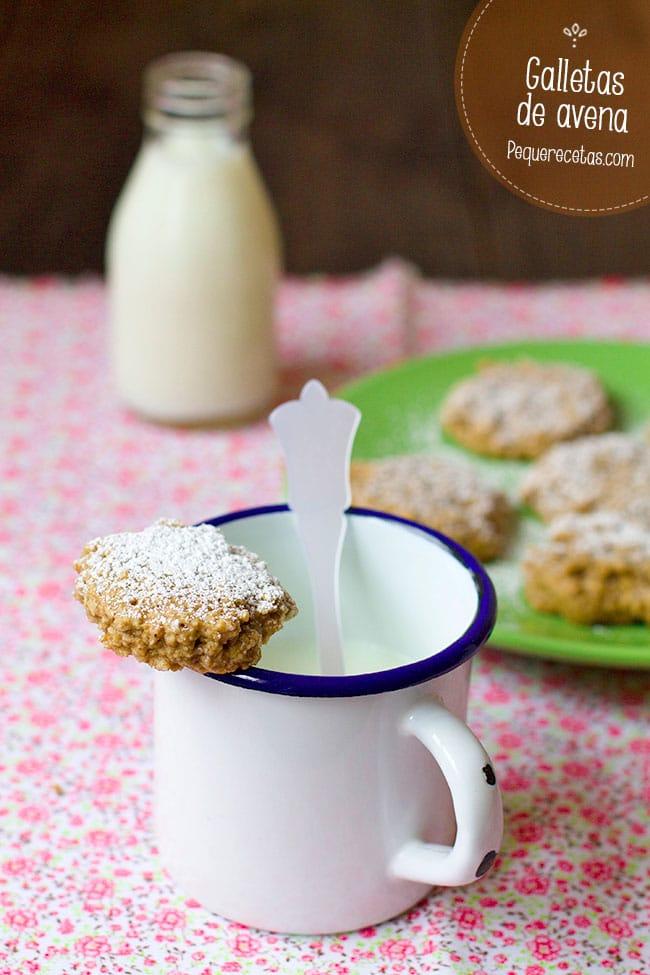 galletas de avena con almendras