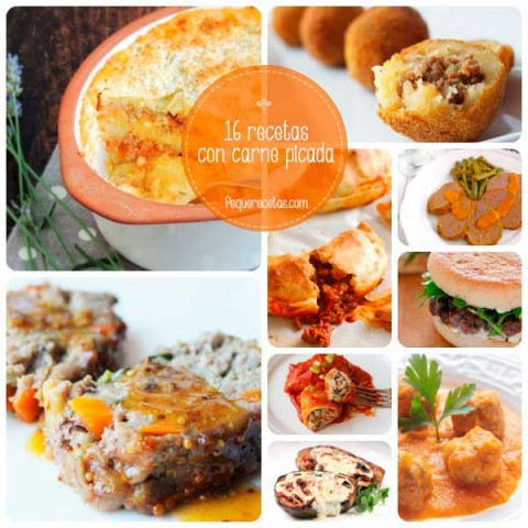 comida saludable con carne picada
