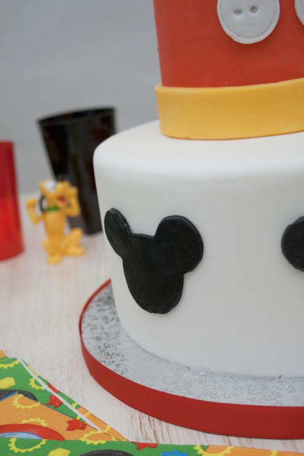 tarta fácil de mickey paso a paso