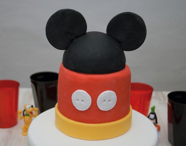 tarta fácil de Mickey tutorial