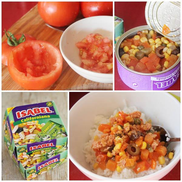 Tomates rellenos ensalada Isabel