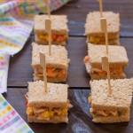 Mini sándwich de pollo