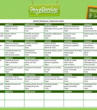 menu semanal gratis con recetas semana a semana
