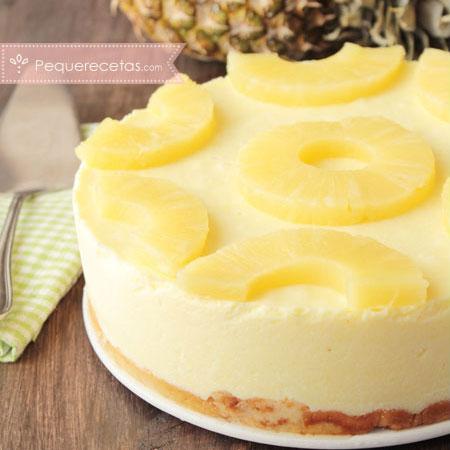 Tarta de frutas: tarta de piña