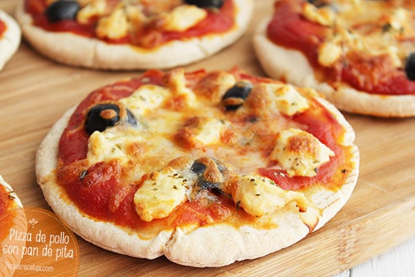 receta pizza de pollo
