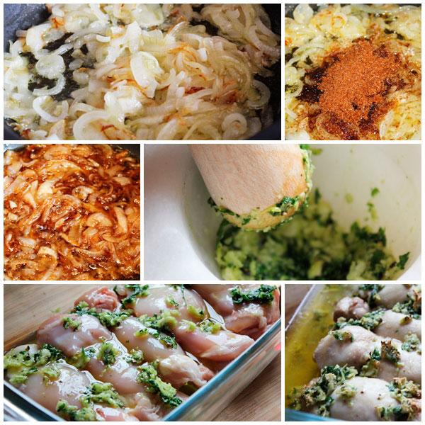 Pollo-al-horno-con-mermelada-de-cebolla-pasos