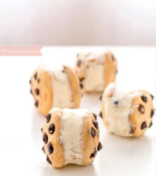 cookies de chocolate con helado