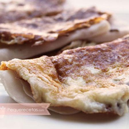 Recetas de crepes, crepes de queso y pavo