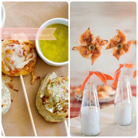 Piruletas saladas: de pizza