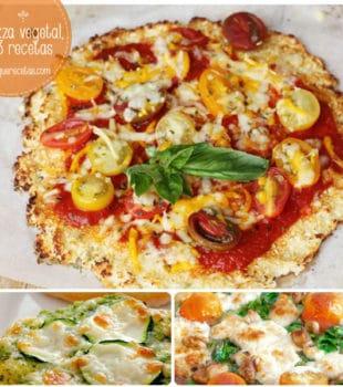Pizza vegetal, 3 recetas