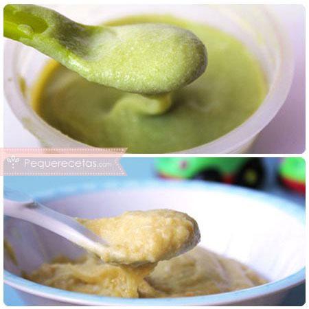 Purés de legumbres para bebés