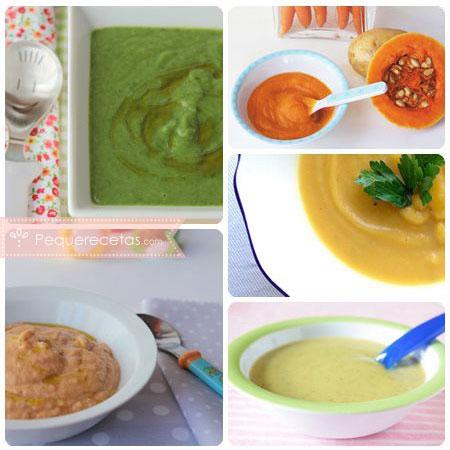 Purés de verduras para bebés