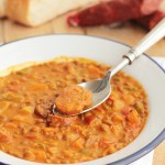 Lentejas con chorizo, ¡un receta ideal para el otoño!