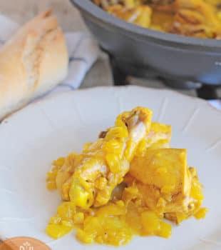 Pollo-salsa-azafran