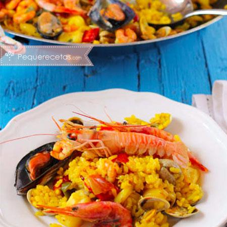 Paella, receta de paella de marisco