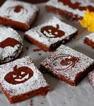 Recetas e Halloween, brownies