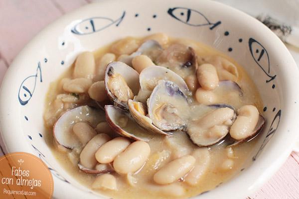 Fabes con almejas asturianas