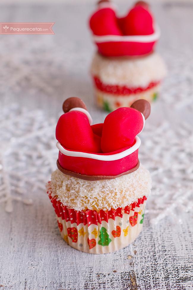 cup-cake-papa-noel-de-vainilla-y-coco