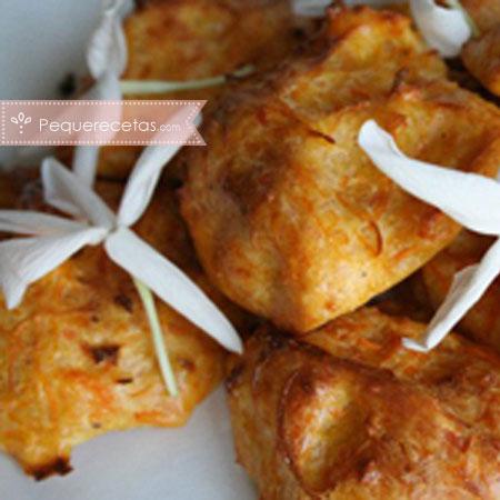 Buñuelos, receta de buñuelos de zanahoria y parmesano