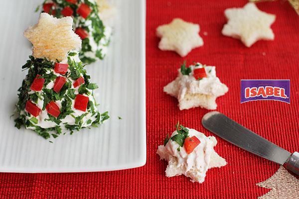 Dip Navidad atun y queso