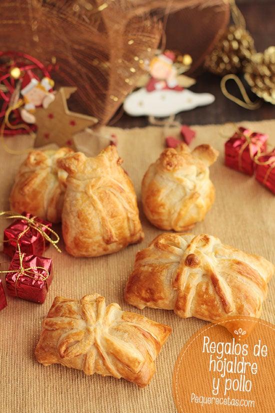 Regalos Navidad de hojaldre y pollo