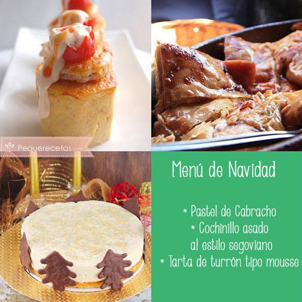 Menú de Navidad con cochinillo