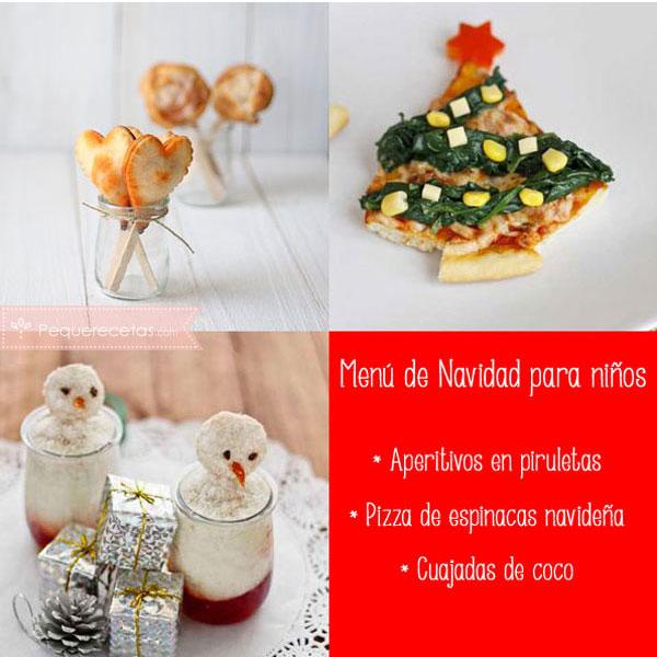 Menú de Navidad para Niños con pizza